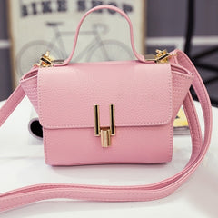 New Women Handbag Synthetic Leather Flap Bag Casual Party Soft Shoulder Bag Messenger Bag - Oh Yours Fashion - 4