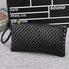 New Women Synthetic Leather Plaid Clutch Wallet Rectangle Casual OL Party Purse - Oh Yours Fashion - 2