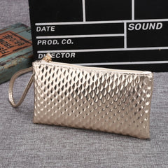 New Women Synthetic Leather Plaid Clutch Wallet Rectangle Casual OL Party Purse - Oh Yours Fashion - 3