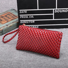 New Women Synthetic Leather Plaid Clutch Wallet Rectangle Casual OL Party Purse - Oh Yours Fashion - 4
