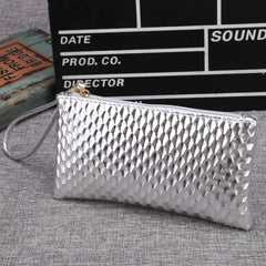 New Women Synthetic Leather Plaid Clutch Wallet Rectangle Casual OL Party Purse - Oh Yours Fashion - 5