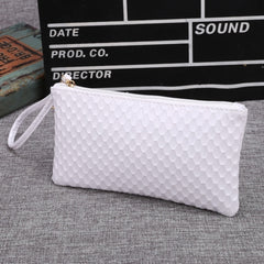 New Women Synthetic Leather Plaid Clutch Wallet Rectangle Casual OL Party Purse - Oh Yours Fashion - 6