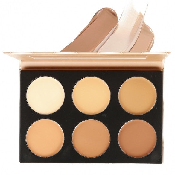 6 Colors Contour Face Cream Makeup Cosmetic Kit Concealer Palette With Mirror - Oh Yours Fashion