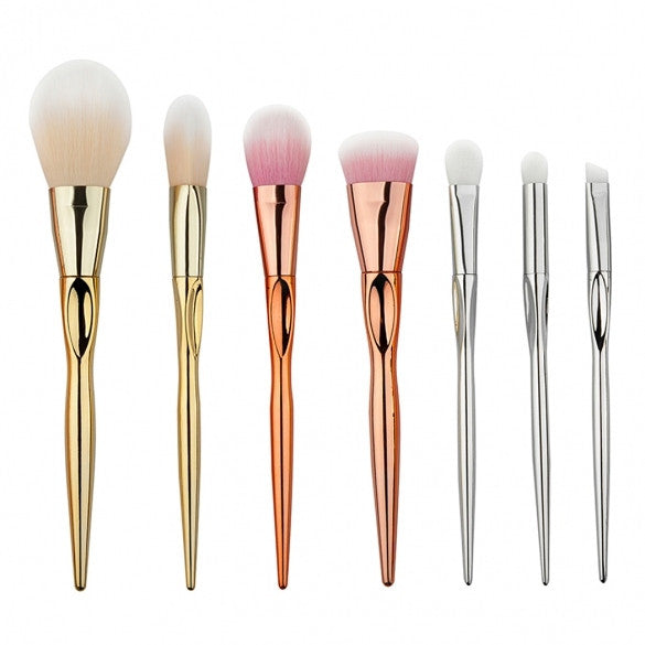 7pcs Milticolor Makeup Brushes Cosmetic Powder Blush Contour Foundation Eyeshadow Make-up Brush Set - Oh Yours Fashion