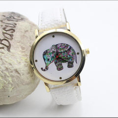 Colorful Elephant Leather Quartz Watch - Oh Yours Fashion - 2