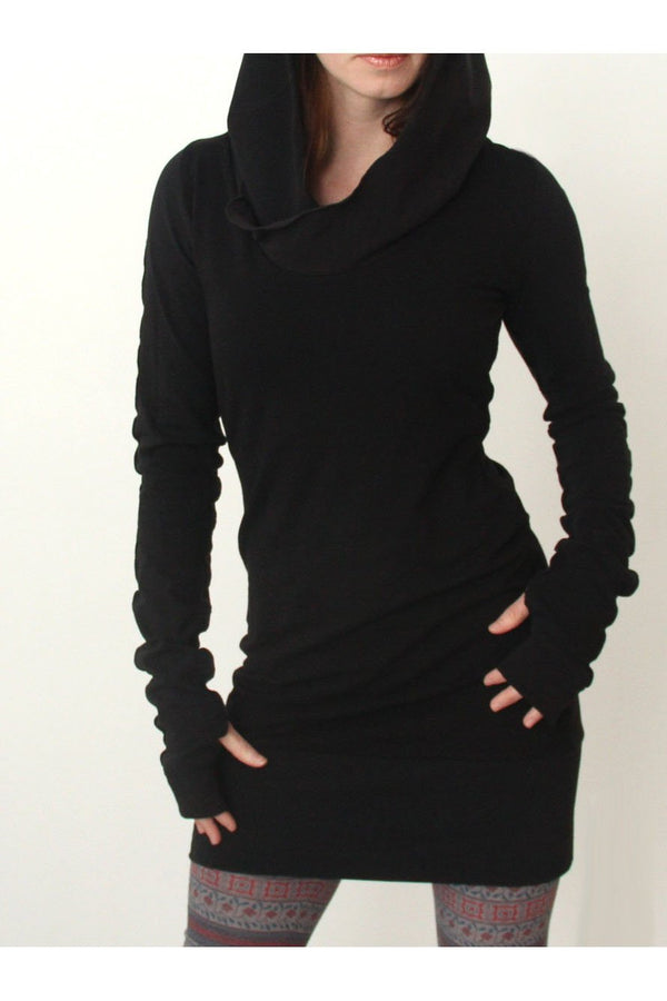 Long Sleeve Solid Color Long Slim Hoodie