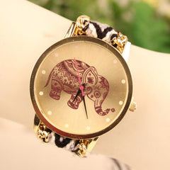 Wool Knitting Strap Elephant Print Watch - Oh Yours Fashion - 7