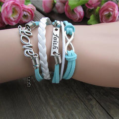 LOVE Romantic Fashion Multielement Colored Bracelet - Oh Yours Fashion - 1