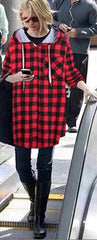Christmas Plaid Hooded Plus Size Coat - Oh Yours Fashion - 2