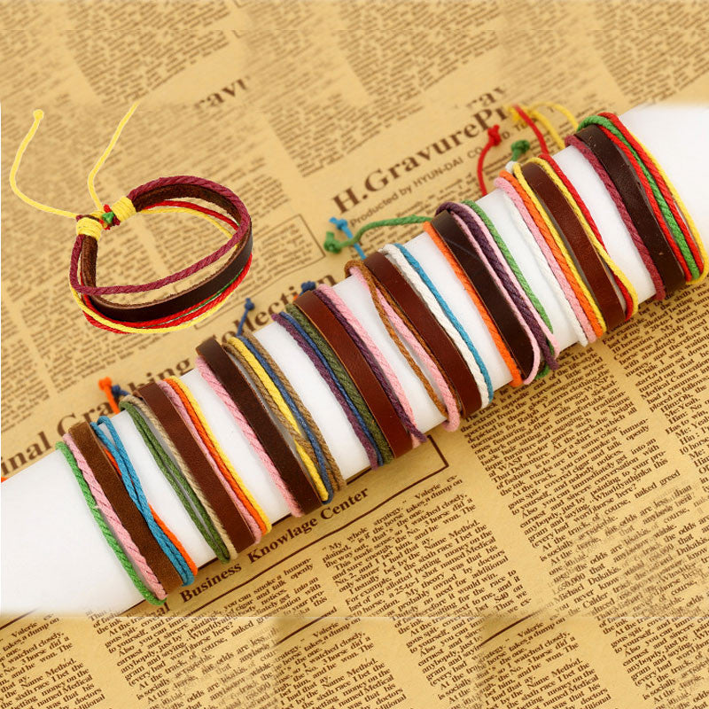 Multicolor Woven Leather Bracelet - Oh Yours Fashion - 4