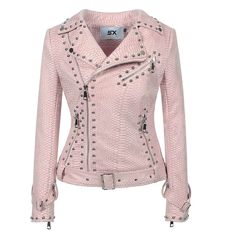 Rivet Studded Moto Jacket