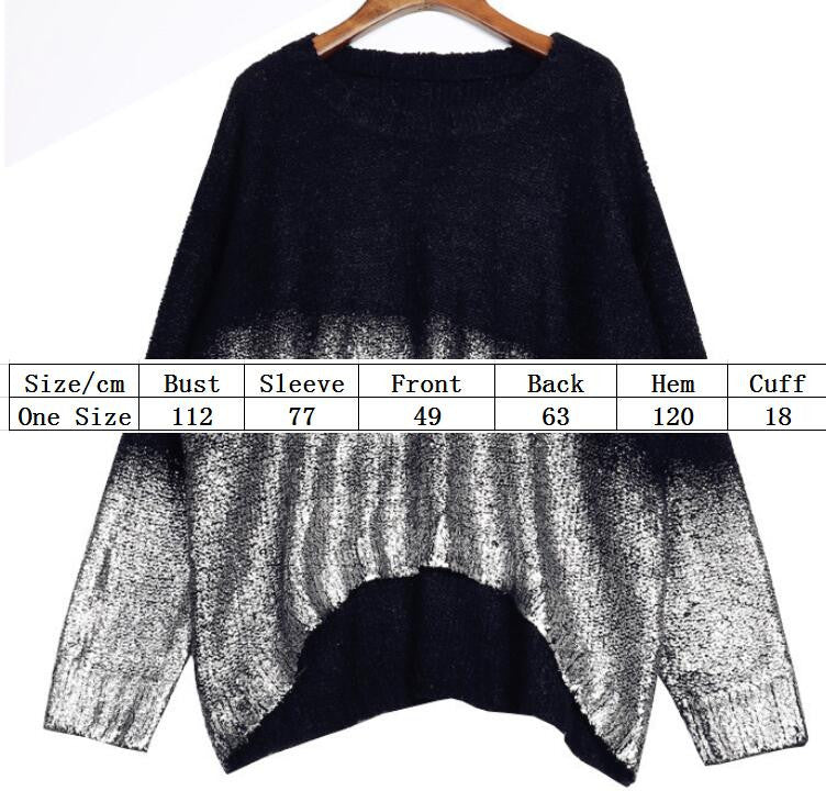 Bat Sleeve Scoop Loose Sequins Sweater - Oh Yours Fashion - 5