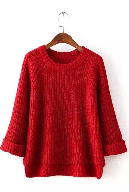 Knitting Bell Sleeve Thick Sweater - Oh Yours Fashion - 1