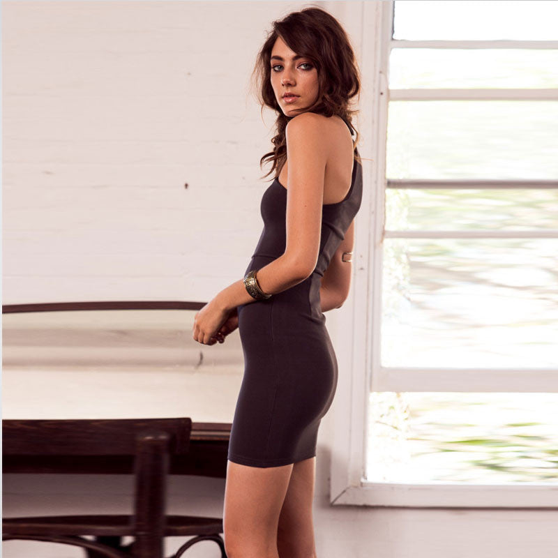 Sexy One Shoulder Halter Bodycon Short Dresses - Oh Yours Fashion - 1