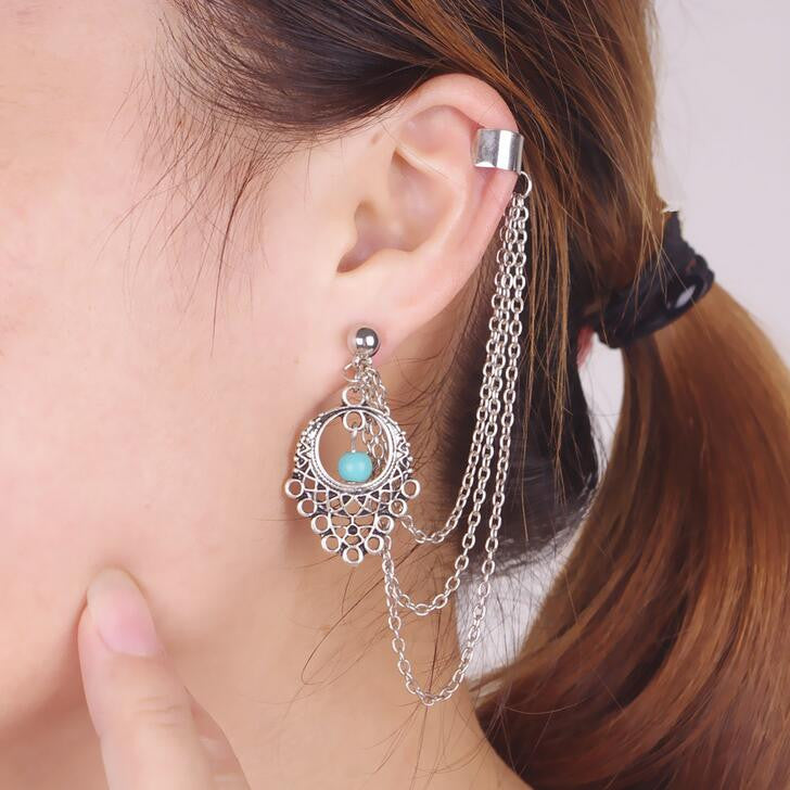 Hollow Out Tophus Drop Earrings - Oh Yours Fashion - 1