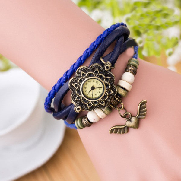 Heart With Wings Multilayer Watch - Oh Yours Fashion - 6
