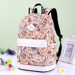 Preppy Style Print School Backpack Travel Bag - Oh Yours Fashion - 3