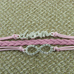 Crystal Dream Leather Cord Bracelet - Oh Yours Fashion - 2