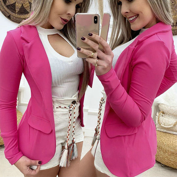 Slim Open Front Full Sleeve Blazer