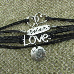 LOVE Heart Believe Handmade Multilayer Woven Bracelet - Oh Yours Fashion - 2