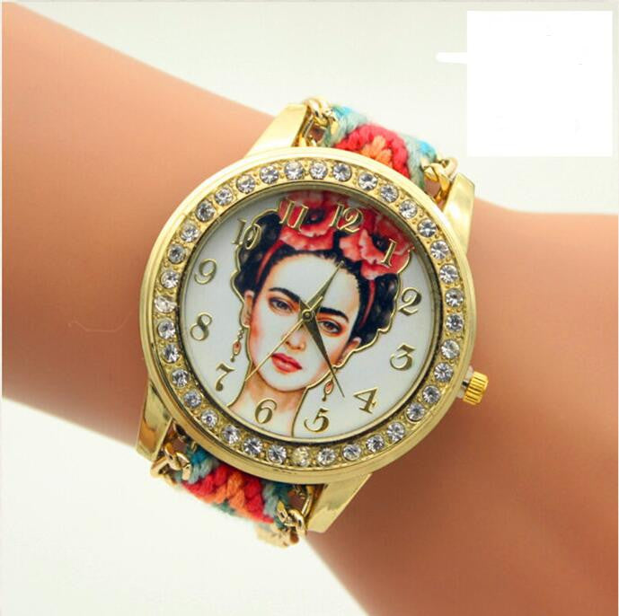 Beauty Women Print Woven Strap Watch - Oh Yours Fashion - 2
