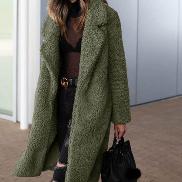 Lapel Teddy Cardigan Coat