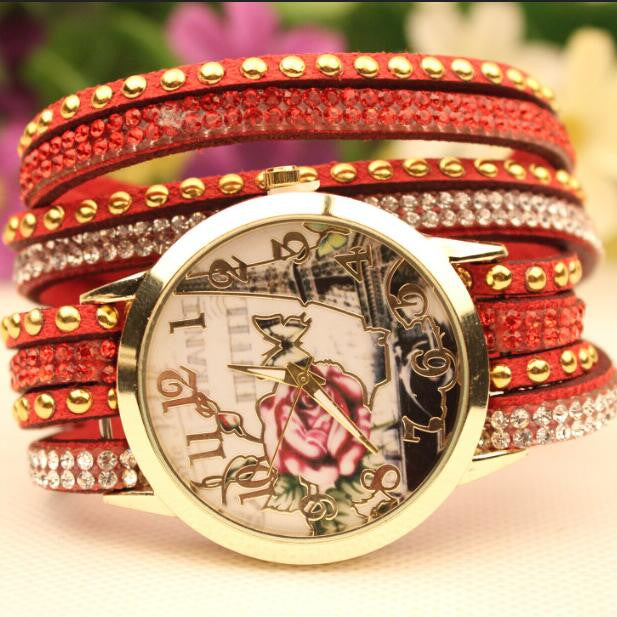 Flower Car Pattern Lady's Watch - Oh Yours Fashion - 2