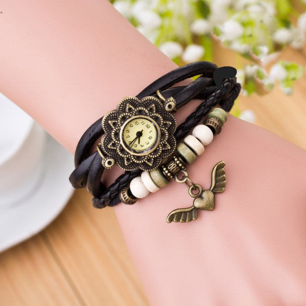 Heart With Wings Multilayer Watch - Oh Yours Fashion - 1