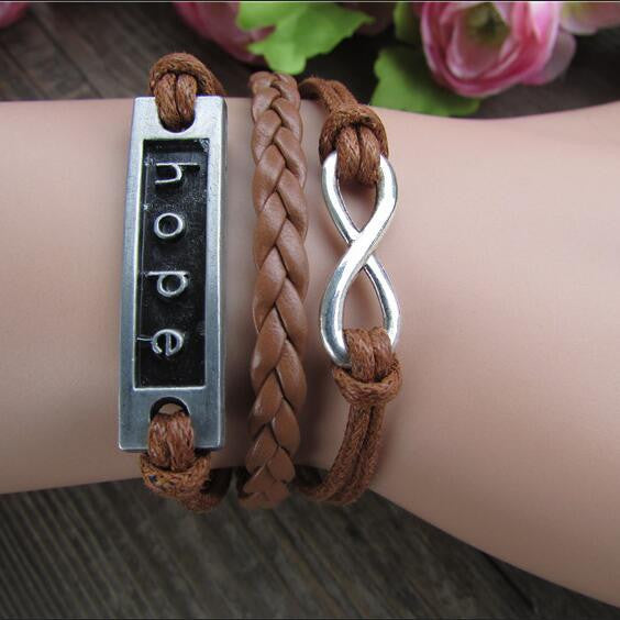 HOPE Multilayer Fashion Hand Knitting Christmas Bracelet - Oh Yours Fashion - 1