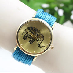 Elephant Print Multilayer Leather Watch - Oh Yours Fashion - 7