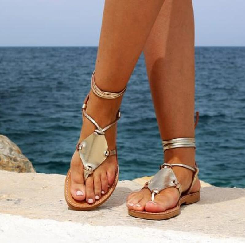 Thong Flat Ankle Strappy Beach Sandal