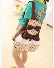 Sweet Polka Dot Lace Bowknot School Backpack Travel Bag - Oh Yours Fashion - 4