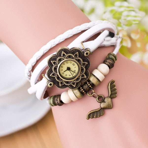 Heart With Wings Multilayer Watch - Oh Yours Fashion - 5