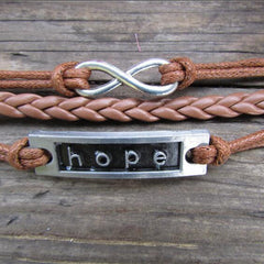 HOPE Multilayer Fashion Hand Knitting Christmas Bracelet - Oh Yours Fashion - 2