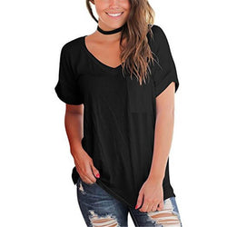 Polka Dots V-neck Loose T-shirt