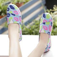 Casual Slip On Print Canvas Sneakers - Oh Yours Fashion - 5