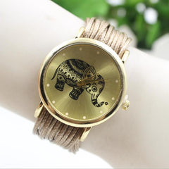 Elephant Print Multilayer Leather Watch - Oh Yours Fashion - 5