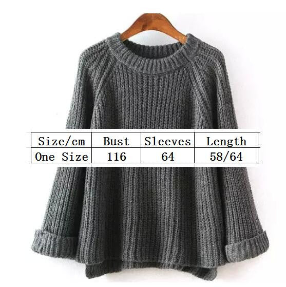 Knitting Bell Sleeve Thick Sweater - Oh Yours Fashion - 4
