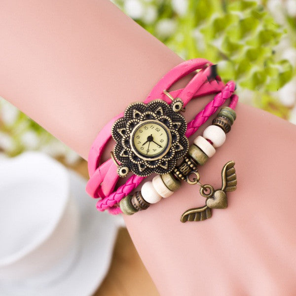 Heart With Wings Multilayer Watch - Oh Yours Fashion - 3