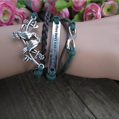 Love Birds Handmade Multilayer Woven Bracelet - Oh Yours Fashion - 1