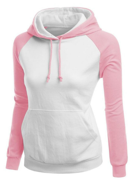 Contrast Color Splicing Pocket Slim Pullover Hoodie - Oh Yours Fashion - 1