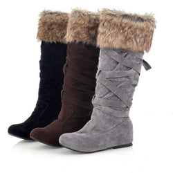 Inside Wedge Knee High Winter Snow Boots