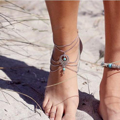 National Style Hollow Out Droplets Anklet - Oh Yours Fashion - 1