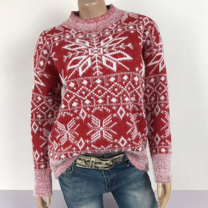 Ugly Christmas Snowflakes Knit Sweater