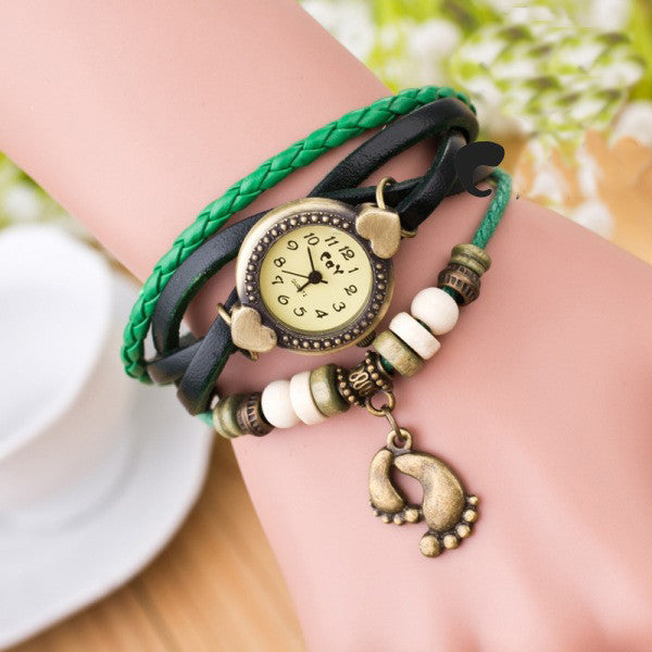 Punk Style Foot Decorate Multilayer Watch - Oh Yours Fashion - 3