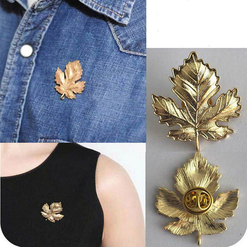 Luxury Diamond Maple Leaf Brooch