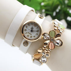 Bright Skin Three Flower Watch - Oh Yours Fashion - 2