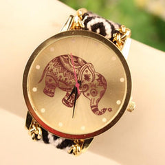 Wool Knitting Strap Elephant Print Watch - Oh Yours Fashion - 9