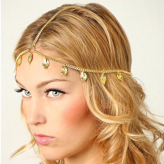 Beautiful Leaves Tassel Chain Hair Accessories - Oh Yours Fashion - 1
