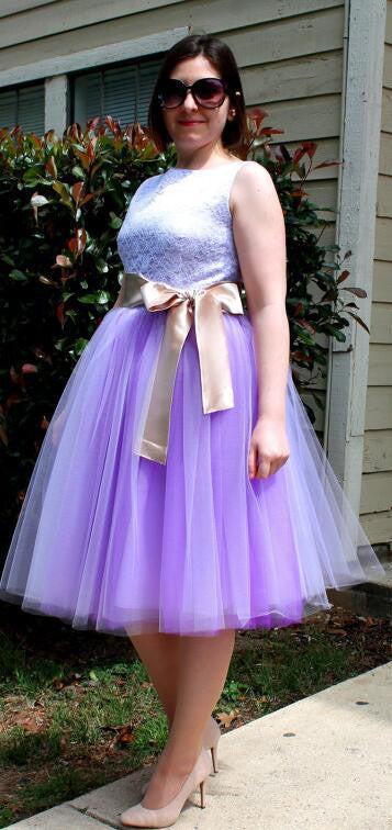 Beautiful Multi-layer Pure Color A-line Tulle Skirt - Oh Yours Fashion - 1